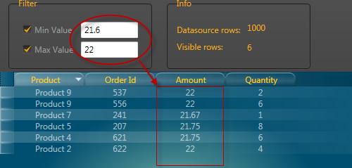 Wpf GridControl custom filters